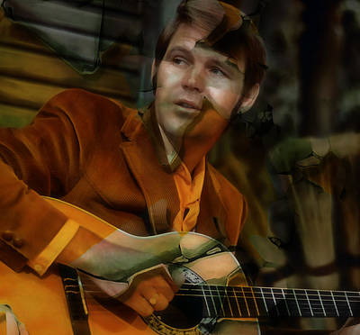 Mixed Media - Glen Campbell by Marvin Blaine