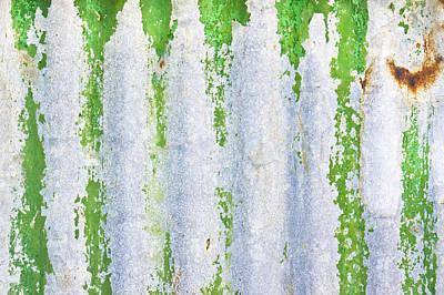 Green Metal Art Print by Tom Gowanlock