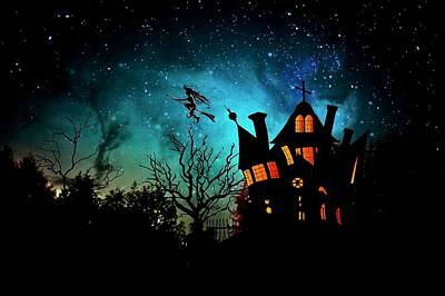 Haunted House Digital Art - Halloween by FL collection