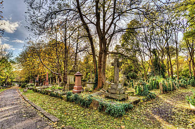 Highgate Cemetery London Art Print