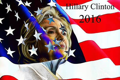 Hillary Clinton Mixed Media - Hillary Clinton 2016 Collection by Marvin Blaine