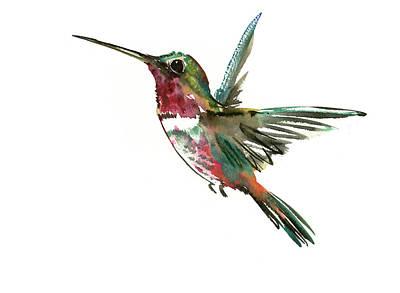 Hummingbird Painting - Hummingbird by Suren Nersisyan