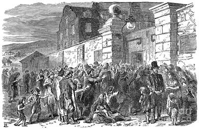 Drawing - Irish Potato Famine, 1846-7 by Granger