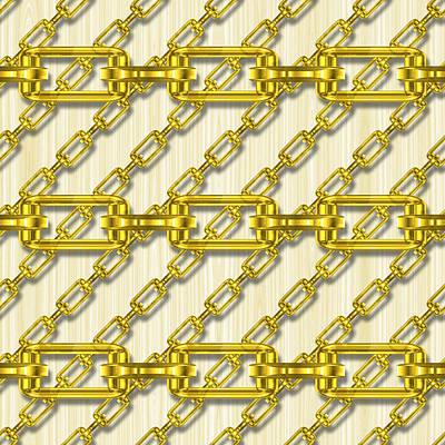 Fine Dining - Iron chains with wood seamless texture by Miroslav Nemecek