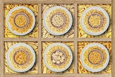 Photograph - Italian Dry Pasta by Gualtiero Boffi