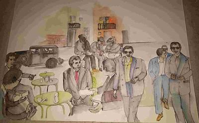 Painting - Italy Life Love Linguini Album by Debbi Saccomanno Chan