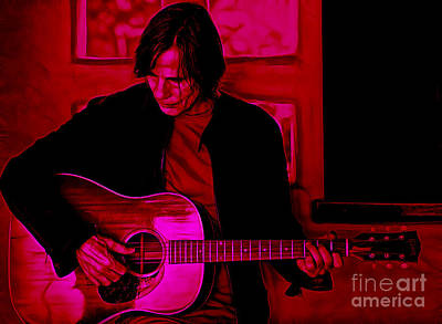 Jackson Browne Mixed Media - Jackson Browne Collection by Marvin Blaine