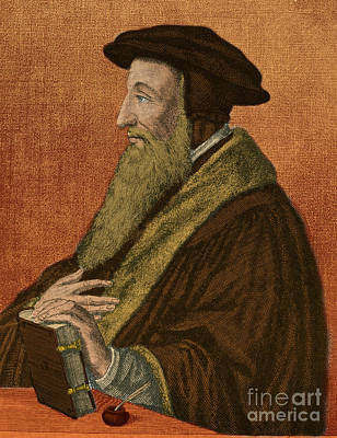 Pastors Photograph - John Calvin, French Theologian by Photo Researchers