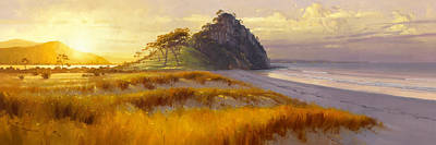 Landmarks Painting Royalty Free Images - Landscape Royalty-Free Image by William Trost