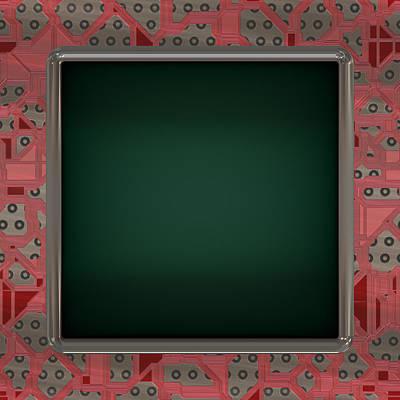 Lcd Screen On Circuit Generated Texture Art Print by Miroslav Nemecek