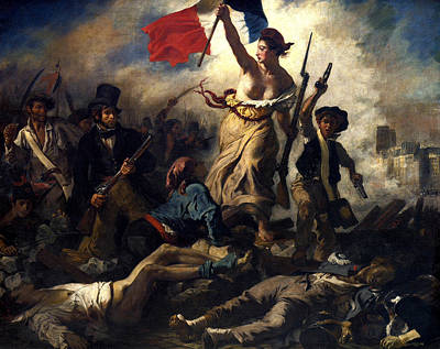Combat Painting - Liberty Leading The People by Eugene Delacroix