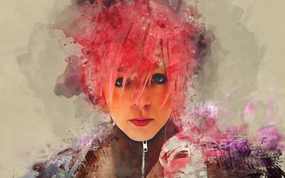 Mixed Media - Lindsey Stirling by Marvin Blaine