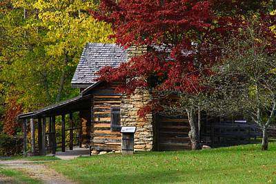Photograph - Log Cabin by Kathryn Meyer