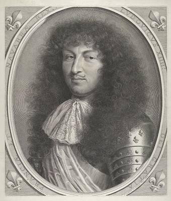 Robert Nanteuil Drawing - Louis Xiv by Robert Nanteuil
