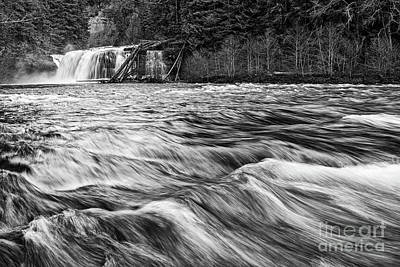 Photograph - Lower Lewis River Falls In Washington State. by Jamie Pham