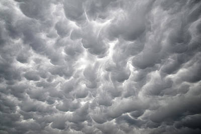 Photograph - Mammatus Clouds by Ray Mathis