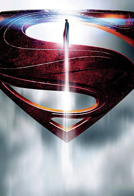 Character Portraits Digital Art - Man Of Steel 2013 by Fine Artist
