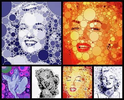 John Wayne Digital Art - Marilyn Monroe Vintage Hollywood Actress by Esoterica Art Agency