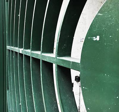Painted Garden Gate Photograph - Metal Gate by Tom Gowanlock