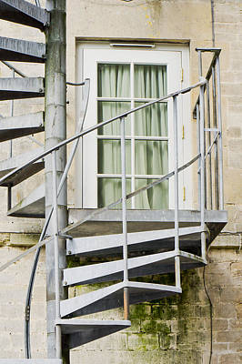 Metal Stairs Print by Tom Gowanlock