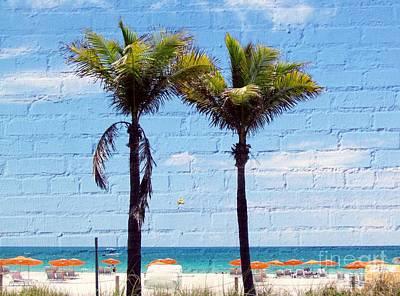 Photograph - Miami Beach Palm Trees by France Laliberte