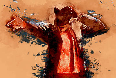 Mixed Media - Michael Jackson by Marvin Blaine