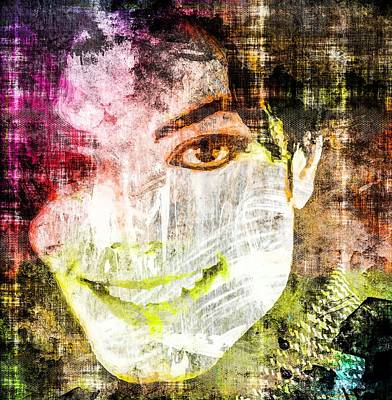 Art Print featuring the mixed media Michael Jackson by Svelby Art