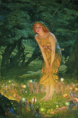 Painting - Midsummer Eve by Edward Robert Hughes