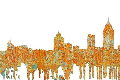 Digital Art - Mobile Alabama Skyline by Marlene Watson