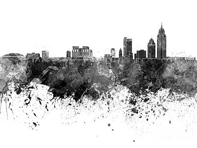 Mobile Skyline In Watercolor Background Art Print by Pablo Romero