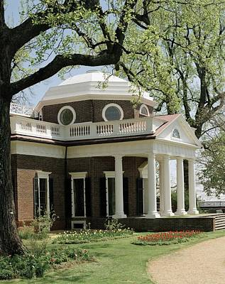 Monticello, The Home Built By Thomas Art Print by Everett