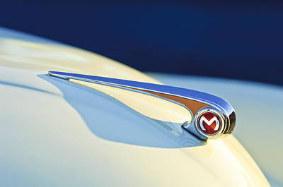 Morris Minor 1000 Hood Ornament Art Print by Jill Reger