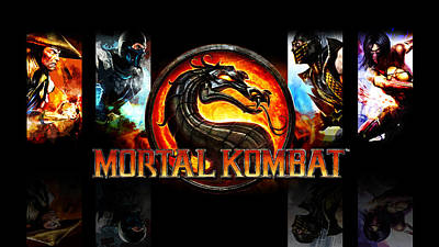 Architecture Digital Art - Mortal Kombat by Super Lovely