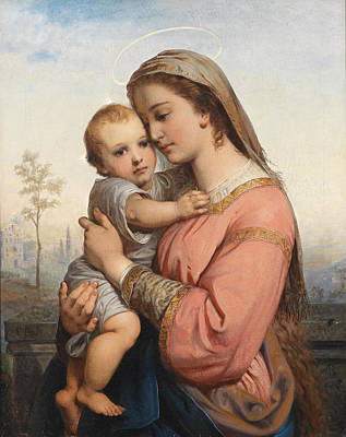 Child Painting - Mother And Child by Celestial Images