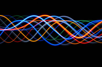 Sine Photograph - Moving Lights, Abstract Image by Lawrence Lawry