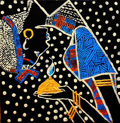 Painting - Murle South Sudanese Wise Virgin by Gloria Ssali