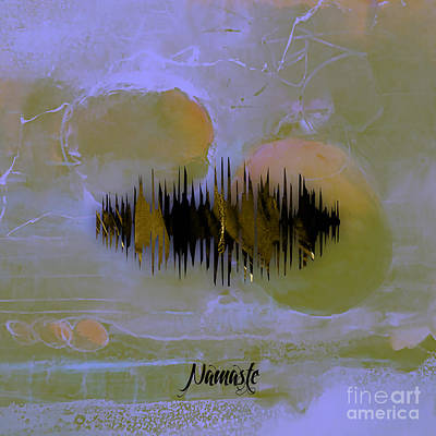 Mixed Media - Namaste Spoken Soundwave by Marvin Blaine