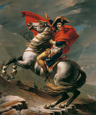 Jacques Painting - Napoleon Crossing The Alps by Jacques-Louis David