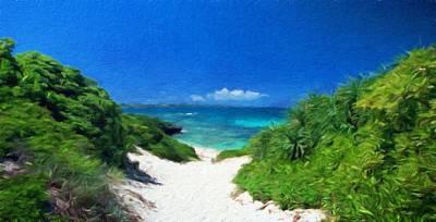 Field Painting - Nature Landscape Artwork by Margaret J Rocha
