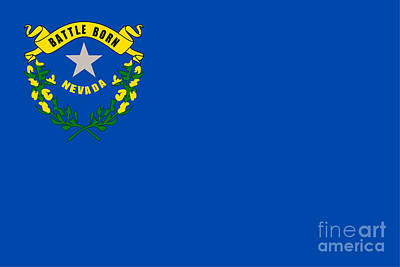 Sean Rights Managed Images - Nevada Flag Royalty-Free Image by Frederick Holiday