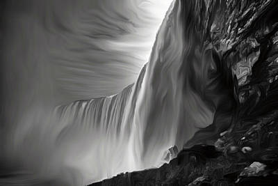 Painting - Niagara Falls by Andre Faubert