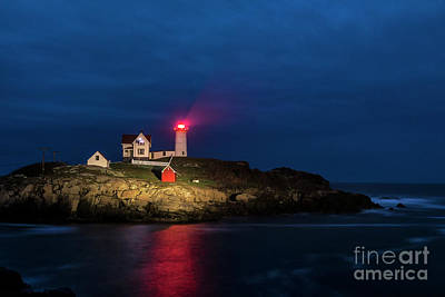 Nubble Lighthouse Print by John Greim