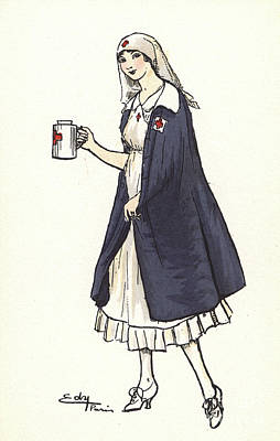 Drawing - Nurse, C1920. by Granger