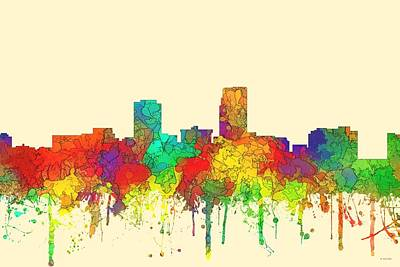 Omaha Nebraska Skyline Art Print