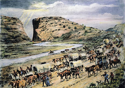Ambition Photograph - Oregon Trail Emigrants by Granger