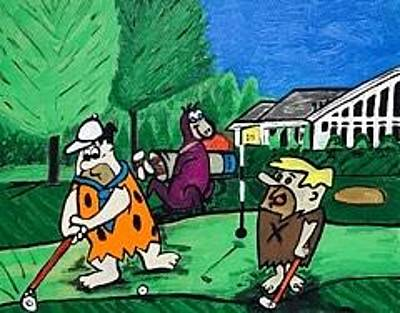 Painting - Original Flintstone Paintings For Sale by Jonathon Hansen