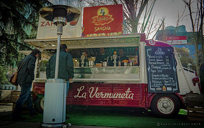 Photograph - Outdoor Mobile Food Market by Henri Irizarri