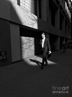 Photograph - 6 P M - Man Walking by Miriam Danar