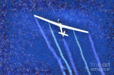 Painting - Painting Of Johan Gustafsson In His Glider by George Atsametakis