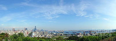 Photograph - Panoramic View Of Kaohsiung City by Yali Shi